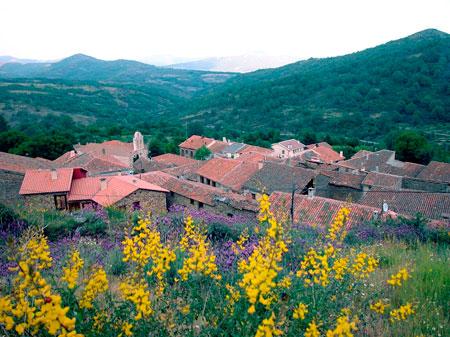 Panorámica del municipio de La Hiruela